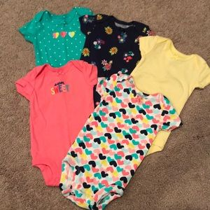 Baby Girl Carter's Onesies Bundle